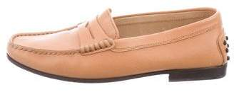 Tod's Round-Toe Leather Loafers
