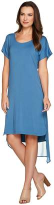 Halston H By H by Layered T-Shirt Dress with Cross Back