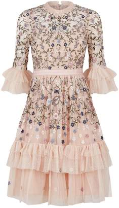 Needle & Thread Dusk Floral Embroidered Dress