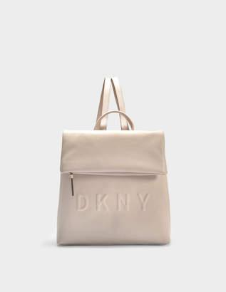 DKNY Tilly Medium Backpack in Caz Carnation Debossed Logo PU