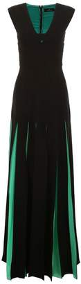 Capucci Bicolor Long Dress