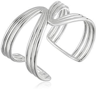 Zina Sterling Wired Mirrored Cuff Bracelet