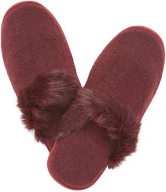 Portolano Cashmere Rabbit Fur Slippers