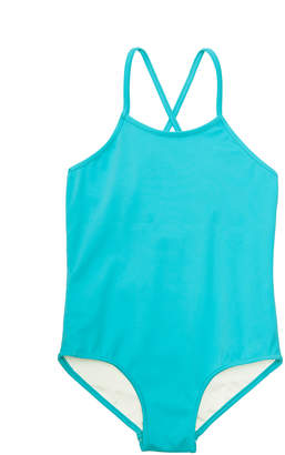 Milly MINIS CABANA ITALIAN SOLID CROSS BACK ONE PIECE