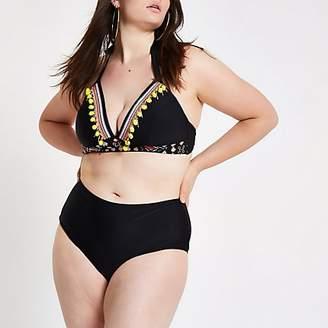 River Island Plus black bikini bottoms