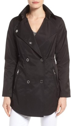 Women's Guess Hooded Double Breasted Anorak $128 thestylecure.com