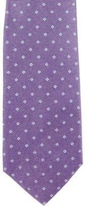 Isaia Silk Jacquard Tie