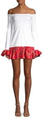 Alexis Estelle Off-The-Shoulder Bell-Sleeve Dress