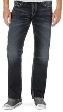 Silver Jeans Zac Dark Wash Straight-Leg Jeans