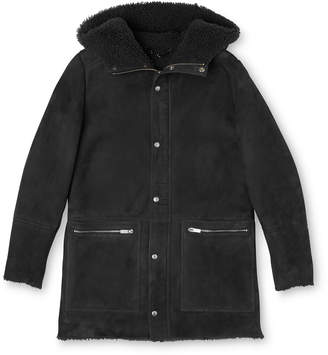 Whistles Shearling Modern Duffle Coat