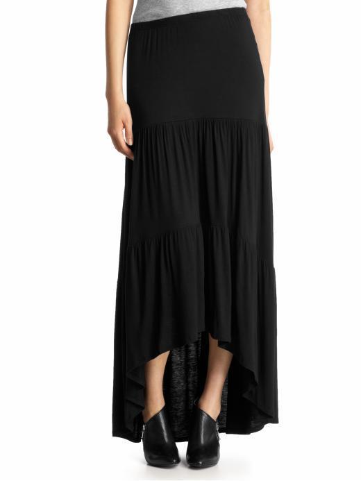 Loveappella Hi-Low Maxi Skirt