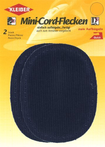 Kleiber Iron-on or sew on elbow and knee patches, Dark Blue, 2 per pack