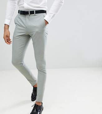 Selected Skinny Fit Suit Pants In Green