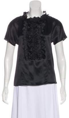 Chanel Silk Flower Blouse