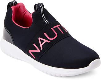 Nautica Kids Girls) Navy Canvey Mesh Sneakers