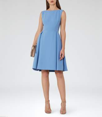 Reiss Eri Low-Back Fit And Flare Dress