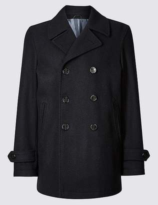 Marks and Spencer Wool Blend Peacoat