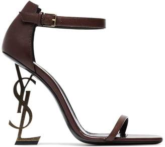 085b498b5d5 Global Free Shipping at Farfetch · Saint Laurent Brown Opyum 110 Leather  sandals
