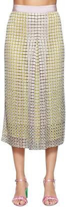 Marco De Vincenzo Embellished Macramé Midi Skirt