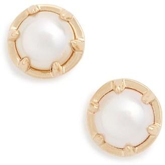 Women's Anna Sheffield 'Celestine' Pearl Stud Earrings $1,050 thestylecure.com