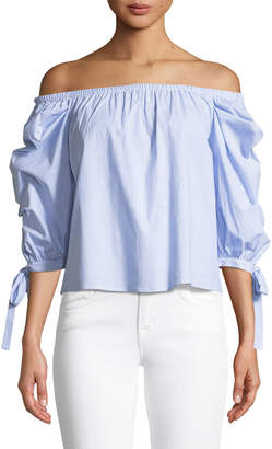 Soul Harmony Energy Off-The-Shoulder Tie-Sleeve Top