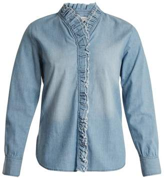 Etoile Isabel Marant Lawendy ruffle-trimmed stretch-cotton shirt