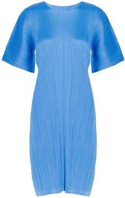 Pleats Please Issey Miyake Short Sleeves Pleated Dress