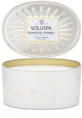Voluspa Branche Vermeil Oval Shaped Tin Candle