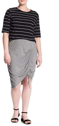 Susina Ruched Side Jersey Pencil Skirt (Plus Size)