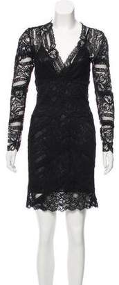 Nicole Miller Lace Knee-Length Dress