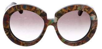 Valentino Camu Butterfly Sunglasses