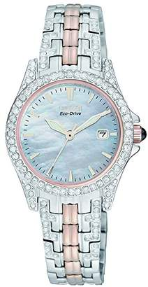 Citizen Watch Silhouette Women's Quartz Watch with Mother of Pearl Dial Analogue Display and Two Tone Stainless Steel Bracelet EW1226-59D