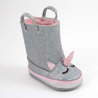 Baby Girl Wee Kids Unicorn Boot Crib Shoes