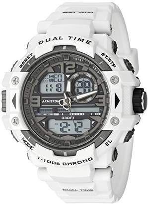 Armitron Sport Men's 20/5062WHT Analog-Digital Chronograph Resin Strap Watch