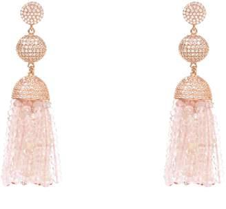 Latelita London - Tassel Ball Earring Rose Quartz Rosegold