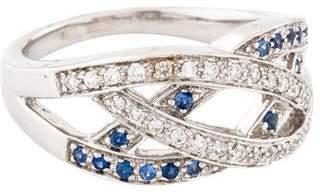 Ring 18K Diamond & Sapphire Band