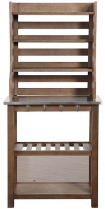 Boraam Napa Baker's Rack, Gray Wire-Brush
