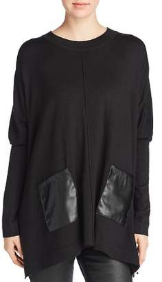 Donna Karan Faux-Leather Pocket Tunic