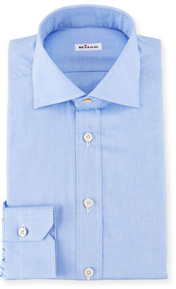 Kiton Broadcloth Dress Shirt, Blue