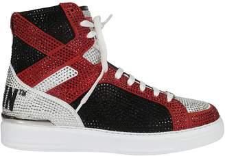 Philipp Plein Embellished Hi-top Sneakers