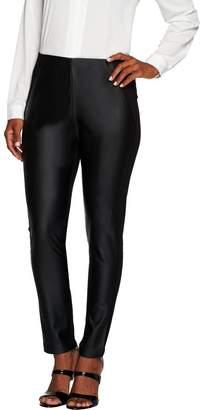Susan Graver Ponte Knit Comfort Waist Pants with Faux Leather