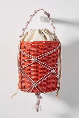 Maria La Rosa Country Woven Bucket Bag