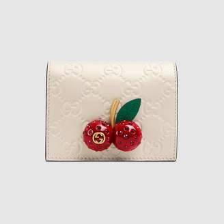 Gucci (グッチ) - グッチ シグネチャー チェリー カードケース