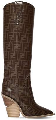Fendi 100mm Ff Print Cowboy Tall Boots