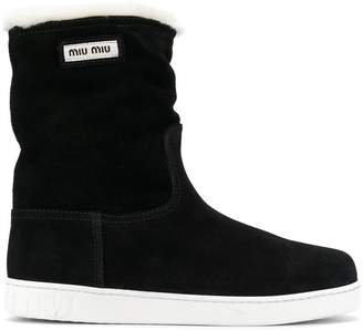 Miu Miu mid-calf flat boots