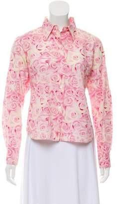 agnès b. Floral Print Button-Up