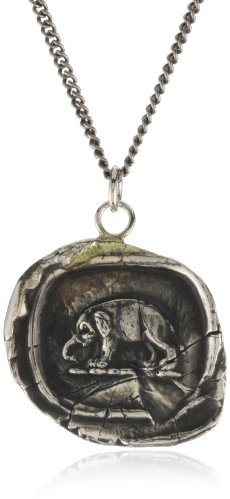 "Pyrrha Wax Seals"" Sterling Silver Elephant Necklace"