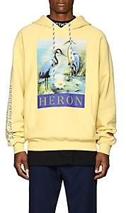 Heron Preston Men's Heron-Graphic Cotton Fleece Hoodie-Yellow
