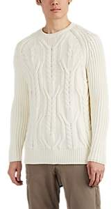Neil Barrett Men's Cable-Knit Wool Sweater - Cream