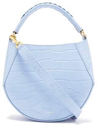 Wandler - Corsa Mini Crocodile Effect Leather Tote - Womens - Light Blue